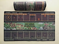 """BOSS MONSTER II PLAYMATS X 2 NEW BROTHERWISE (NEVER USED) CARD GAME 24"""" x 14"""""""