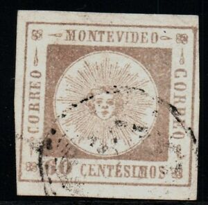 Uruguay classic stamp #13d or 12A fine impression VF used