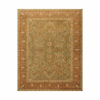 8'2'' x 10' Hand Knotted 100% Wool Agra 200 KPSI Oriental Area Rug Pistacchio