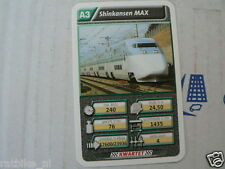 22 SUPER TRAIN A3 SHINKANSEN MAX TREIN KWARTET KAART, QUARTETT CARD