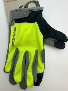 new Pearl Izumi ATTACK bicycle Long Finger GLOVES men's Screaming Yellow