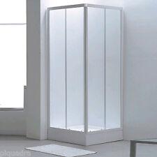 box doccia 80x80 scorrevole angolare con porte in cristallo 4 mm vetro opaco