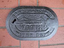 "San Francisco Golden Gate CA Cast Iron Water Meter Box Cover OEM Original 6x10"""