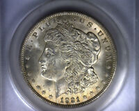 MS63 ANACS 1921 TOP 100 VAM 13 INFREQUENTLY REEDED MORGAN SILVER DOLLAR COIN