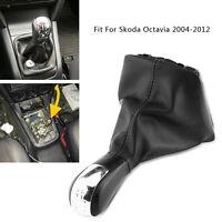 5 Speed PU Leather Gear Shift Stick Knob Gaiter Boot Kit For Skoda Octavia 04-12