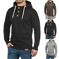 Fashion Men Hooded Pullover Hoodie Sweater Trip with Buttons Sweatshirt Coat Top