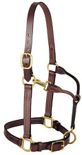 """Weaver Leather 3-in-1 All Purpose Leather Halter, 1"""" Wide, Mahogany, 20-0480"""
