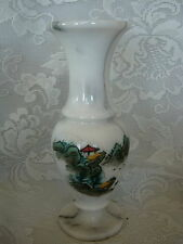 Collectible Marble/Natural Stone Hand Painted Scenic Trees/Birds Art Vase