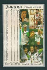 GUYANA 1988 HB GANADORES KOREA88 BARCELONA -92 MEDALLAS OLIMPICAS HOJA BLOQUE