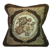 CURCYA Floral Chenille Cushion Cases Luxury European Sofa Throw Pillow Covers