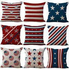 18'' The Stars style Cotton Linen Pillow Case Sofa Cushion Cover Home Decor