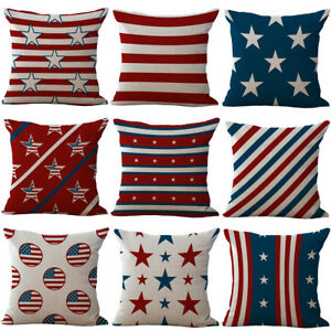 18'' The Stars style Cotton Linen Pillow Case Sofa Cushion Cover Home Decor
