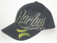 Youth Hurley KEEP IT Hat Black Lime Green OSFA ($25) NEW Flex Boys Kids Cap Surf