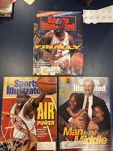 Sports Illustrated  June 17, 1991 - Michael Jordan Air Power Bulls +2 Covers