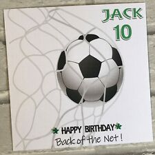 PERSONALISED Handmade BIRTHDAY CARD Football Goal Son Grandson Nephew  ANY AGE