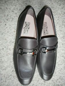NEW FERRAGAMO BROWN LEATHER HORSEBIT LOAFER US9E MADE ITALY $660+TAX RETAIL