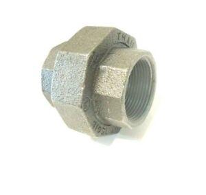 """3/8"""" 150 Threaded (NPT) Union Malleable Iron Pipe Fitting <MI040341"""