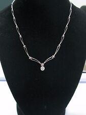 """Corte Redondo Diamante Natural Miligrano Blanco Collar de Oro 18"""" 1.15ct H-si1"""