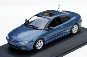 Peugeot 406 Coupé Bj. 1997-2003, blaumetallic, Minichamps-Modell im M. 1:43, OVP