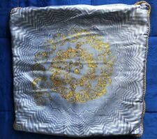 VERSACE HOME COLLECTION Blue and Gold Pillow Cover