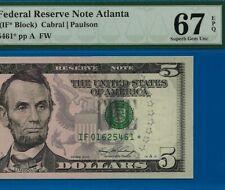 New listing =2006 $5 Frn ( Atlanta Star ) Pmg Superb-Gem-Unc 67Epq # If01625461*