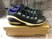 Reebok Mens DMX Run 10,9,9.5 Shoes Black/White/Purple/Teal NIB