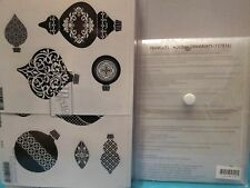 "NEW Stampin Up ""Ornament Keepsakes"" Wood Stamp Set & Holiday Ornaments Framelits"