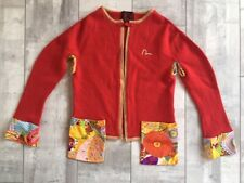 EVISU OPEN FRONT RED WOOL CARDIGAN PXS PS