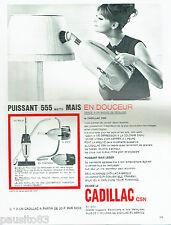 PUBLICITE ADVERTISING 096  1963   Cadillac   aspirateur  balai