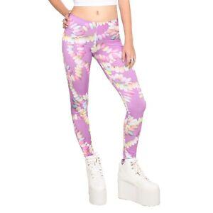 NWOT Hot Topic Purple Candy Necklace RAVER Leggings Sz XXL