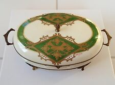 """Antique French """"FBS"""" Porcelain Box"""
