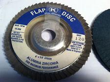 "KASCO  ABRASIVES, 4 X 5/8"", 120 GRIT ZIRCONIA FLAT DISCS"