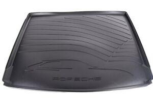 Genuine Porsche Cayenne Trunk Tray Liner Cargo Luggage Rear Black 95804400027