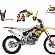 adesivi Rockstar Energy Suzuki Rmz 450 2008 - 2017 Blackbird stickers kit