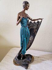 "Erte Bronze Sculpture, ""Emerald Night"", by Erte, Appraisal & Documentation"