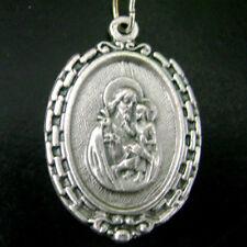 "Italy Silver St.Joseph Jesus Baby Medal Catholic Christian rosary pendant 1.2"""