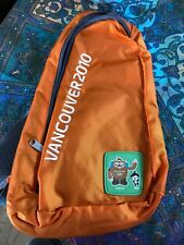 "Vancouver 2010 Olympic Souvenir Kids Back Sling Bag 10"" X 8""X 2 "" Orange."