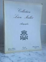 Catálogo De Venta Colección Leon Muller Firmado 31 Mars 1968