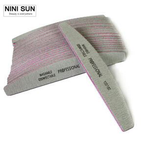 Pack of 25 - Professional High Quality Nail Files (100-180 Grit) Manicure