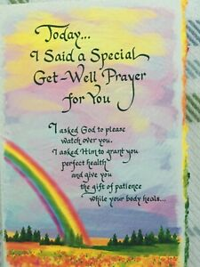 New Blue Mountain Arts Card TODAY I SAID A SPECIAL GET WELL PRAYER FOR YOU/ Thin