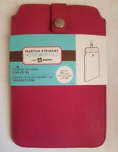 """Martha Stewart Home Office with Avery 7"""" Tablet Slim Sleeve Raspberry Pink (NWT)"""