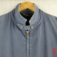 VTG POLO RALPH LAUREN Large Mens Made in USA Blue Cotton Chambray Jacket Coat
