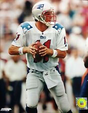 DREW BLEDSOE New England Patriots 8X10 ACTION PHOTO White Jersey