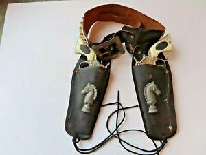 Paladin  cap gun double holster set, Pair of 1990 Paladin cap guns
