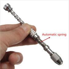 Mini Jewelry Tool Micro Twist Bit Pin Vise Wood Spiral Hand Push Drill ChuckTool