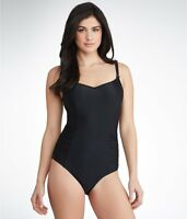 Panache BLACK Anya One Piece Swimsuit, US 38FF