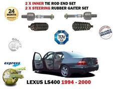 FOR LEXUS LS400 1994-2000 2x INNER STEERING TIE RACK ROD END SET + RUBBER BOOTS
