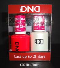 DND Daisy Hot Pink 505 Soak Off DND Gel Polish .5oz LED/UV gel duo DND 505