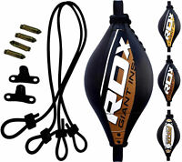 RDX Leather Double End Dodge Speed Ball MMA Boxing Floor to Ceiling Punch Ball