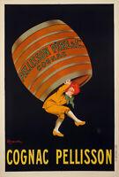Original Vintage Poster - L. Cappiello - Cognac Pellisson - Liquor - 1907
